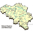Belgium - Natural regions and Waterways