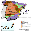 Geophysical Regions of Spain