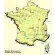 Basins, Mountains and Rivers in France