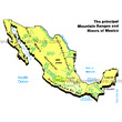 Mexico Mountain Ranges & Rivers
