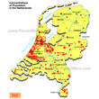 Concentrations of Populations in the Netherlands