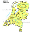 Regions and Waterways in the Netherlands