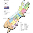 New Zealand - South Island Regions and Districts