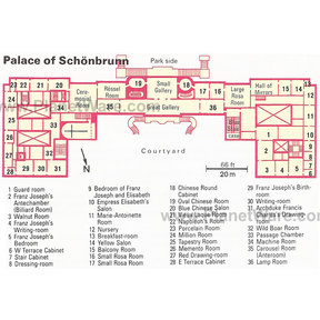 Map - Palace of Schönbrunn