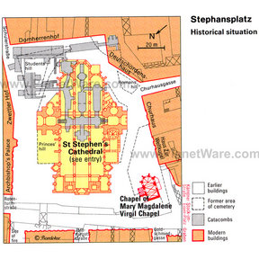 Map - Stephensplatz historical situation