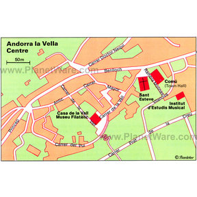 Map - Andorra la Vella Center