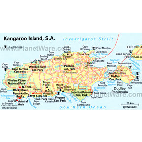 Map - Kangaroo Island