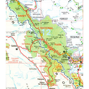 Map - Banff National Park