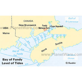 Map - Bay of Fundy - Tide Levels
