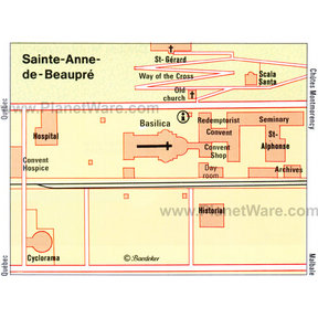 Ste-Anne de Beaupre Map
