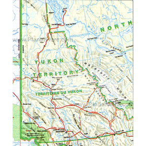 Map - Yukon Territory (detailed)