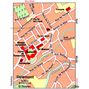 Map - Delémont