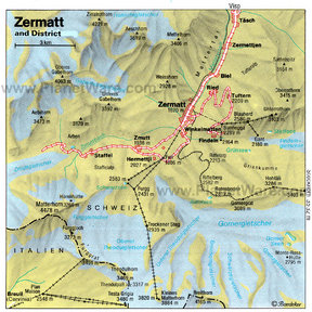 Map - Zermatt and District