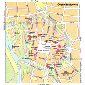 Map - Ceske Budejovice