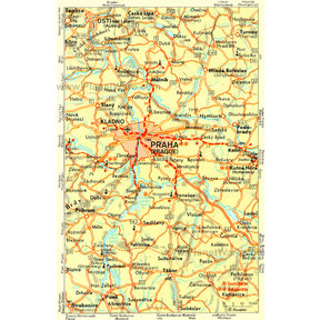 Map - Prague and Surroundings