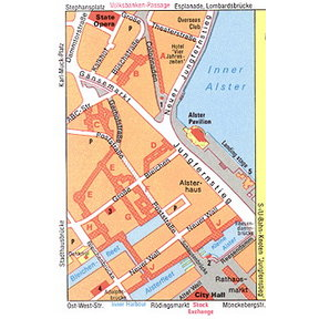 Map - Passages in Hamburg City Center
