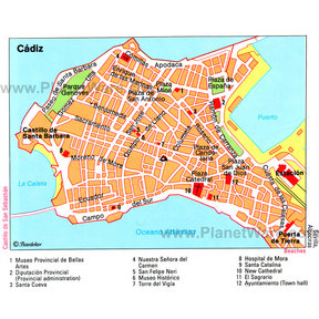Map - Cádiz