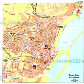 Map - Santa Cruz de Tenerife