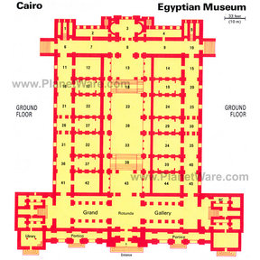 Map - Egyptian Museum- Ground Floor