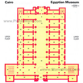 Map - Egyptian Museum- Upper Floor