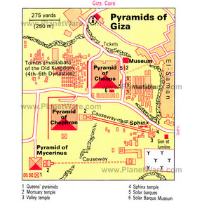 Map - Pyramids of Giza