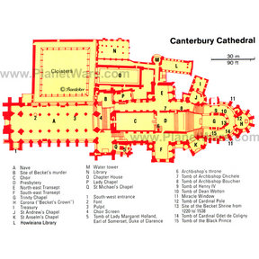 Map - Canterbury Cathedral