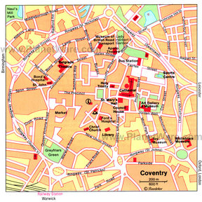 Map - Coventry