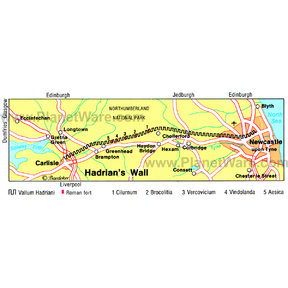 Map - Hadrian's Wall