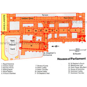 Map - London Houses of Parliament