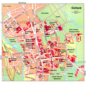 Map - Oxford