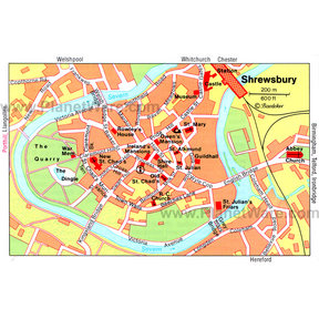 Shrewsbury Map