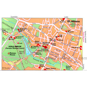 Map - St Albans
