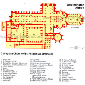 Map - Westminster Abbey