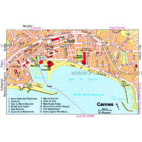 Map - Cannes