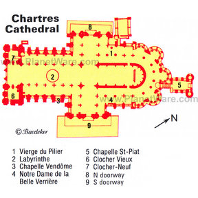 Map - Chartres Cathedral