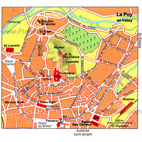 Map - Le Puy en Velay
