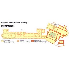 Map - Montmajour Former Benedictine Abbey