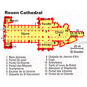 Map - Rouen Cathedral