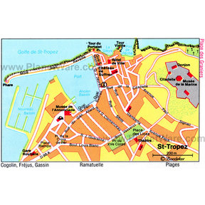 Map - Saint Tropez