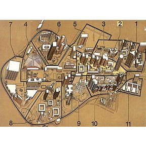 Map - The eleven sectors of La Défense
