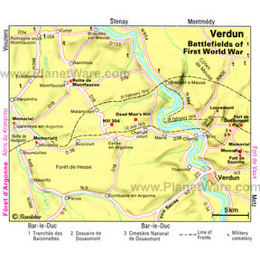 Map - Verdun: Battlefields of First World War