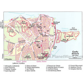 Map - Corfu Old Town