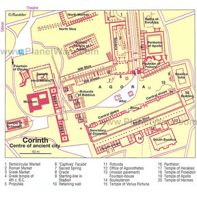 Map - Corinth - Center of an Ancient City