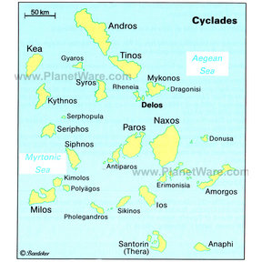 Map - Cyclades