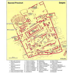 Map - Delphi - Sacred Precinct