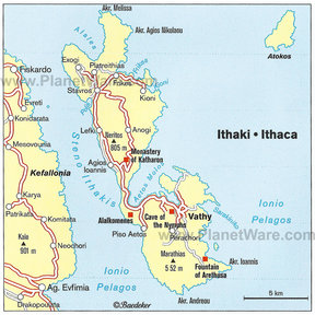 Map - Ithaki-Ithaca