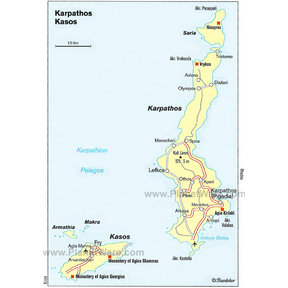 Map - Karpathos Kasos