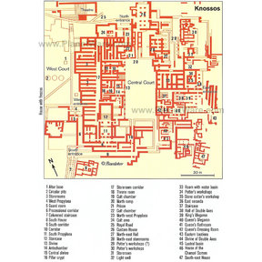 Map - Makritíkhos - Palace of Knossós