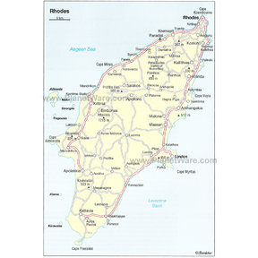 Map - Rhodes Location