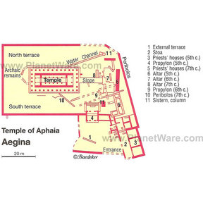 Map - Temple of Aphaia